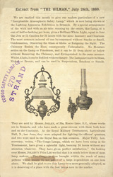 Advert for the Congo Safety Lamp